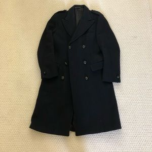 Vintage English military double breasted top coat